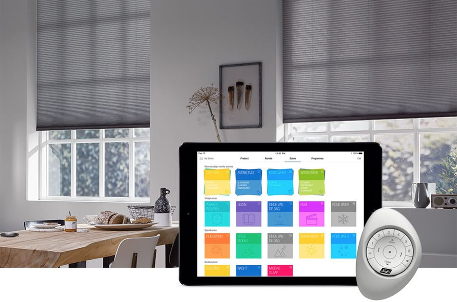 Electric-Blinds-And Curtains Tracks-Home-Automation-Systems